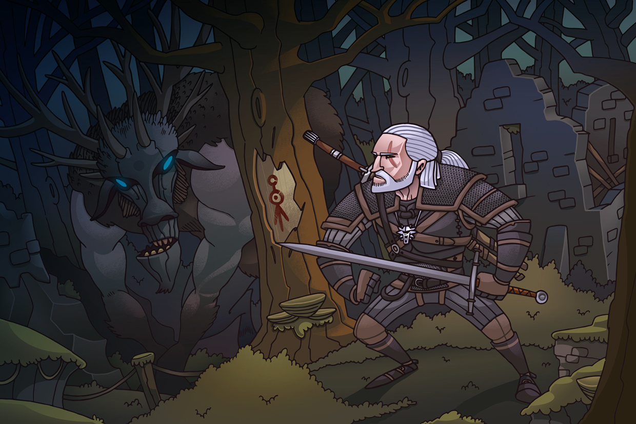 http://rysownik.com/en/illustration/witcher-3-fan-art/